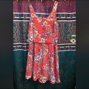Faded Glory Pink Floral Dress